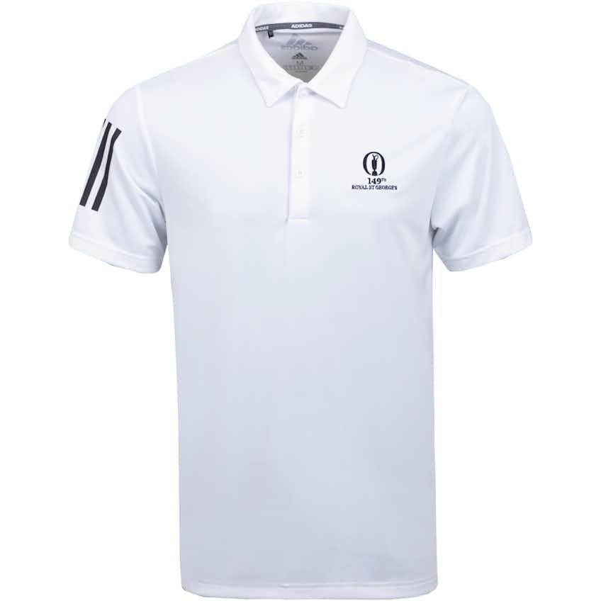 149th Royal St George's adidas Plain Polo Shirt - White
