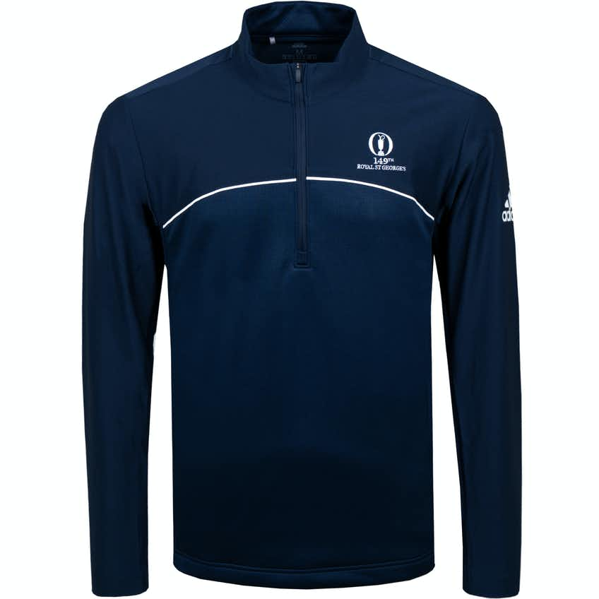 149th Royal St George's adidas 1/4-Zip Sweater - Blue