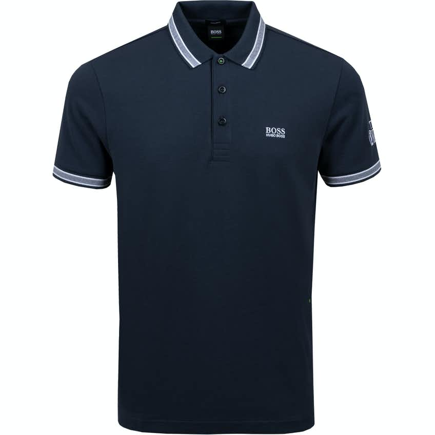 The Open BOSS Plain Polo Shirt - Blue