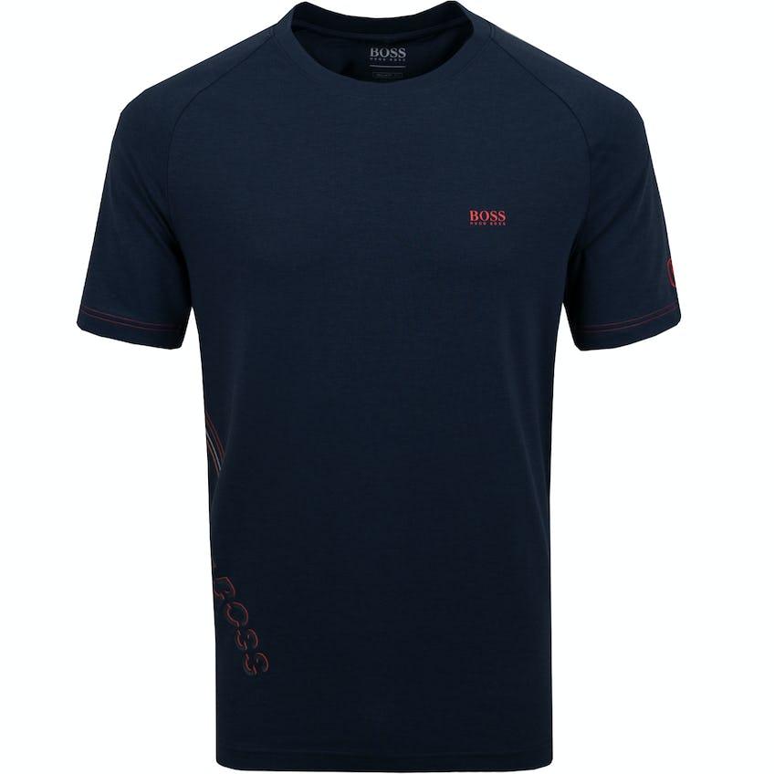 The Open BOSS Plain T-Shirt - Navy 0