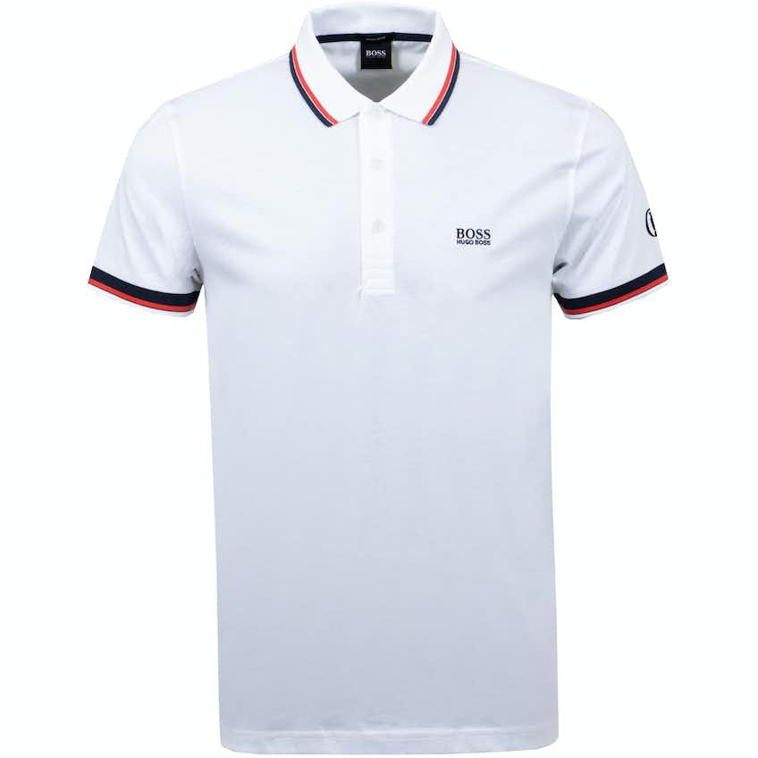 The Open BOSS Plain Polo Shirt - White