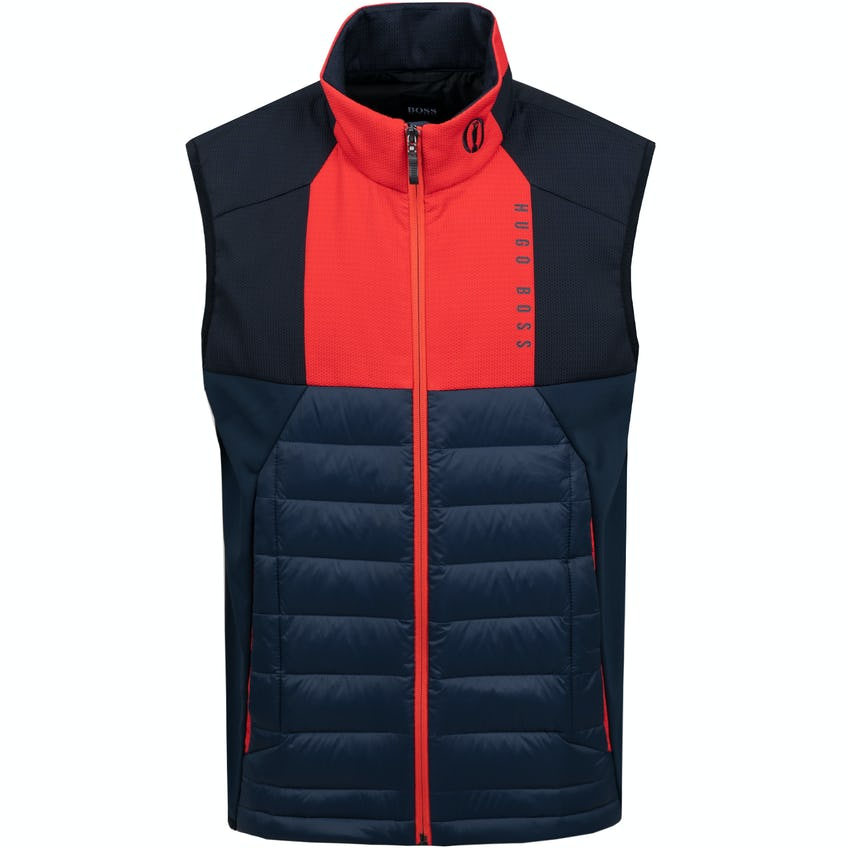 The Open BOSS Full-Zip Gilet - Blue and Red 0