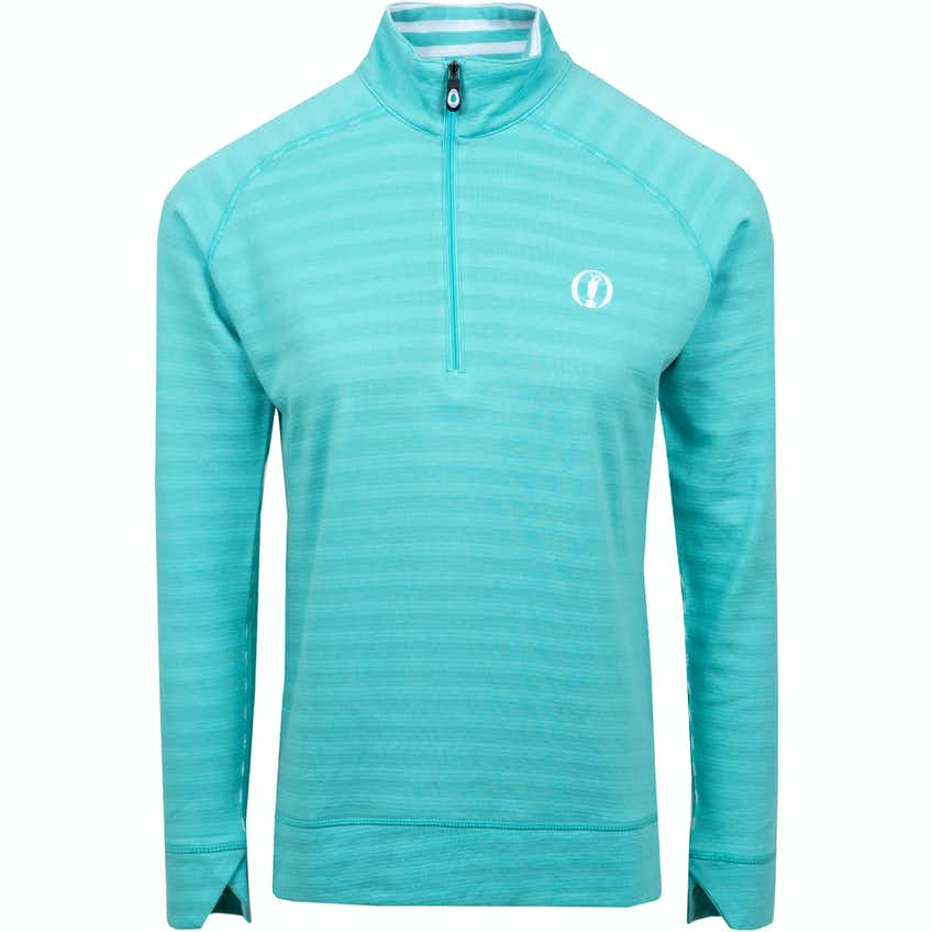 The Open 1/4-Zip Layer - Turquoise