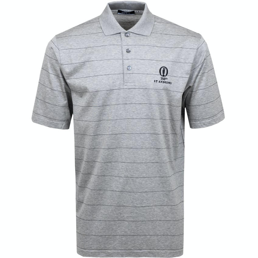 150th St Andrews Marbas Striped Polo Shirt - Grey
