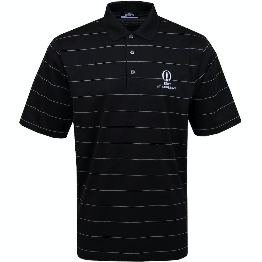 150th St Andrews Marbas Striped Polo Shirt - Black