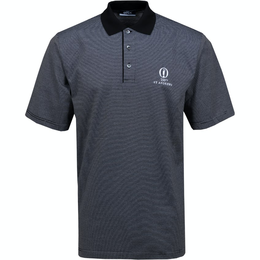 150th St Andrews Marbas Patterned Polo Shirt - Black