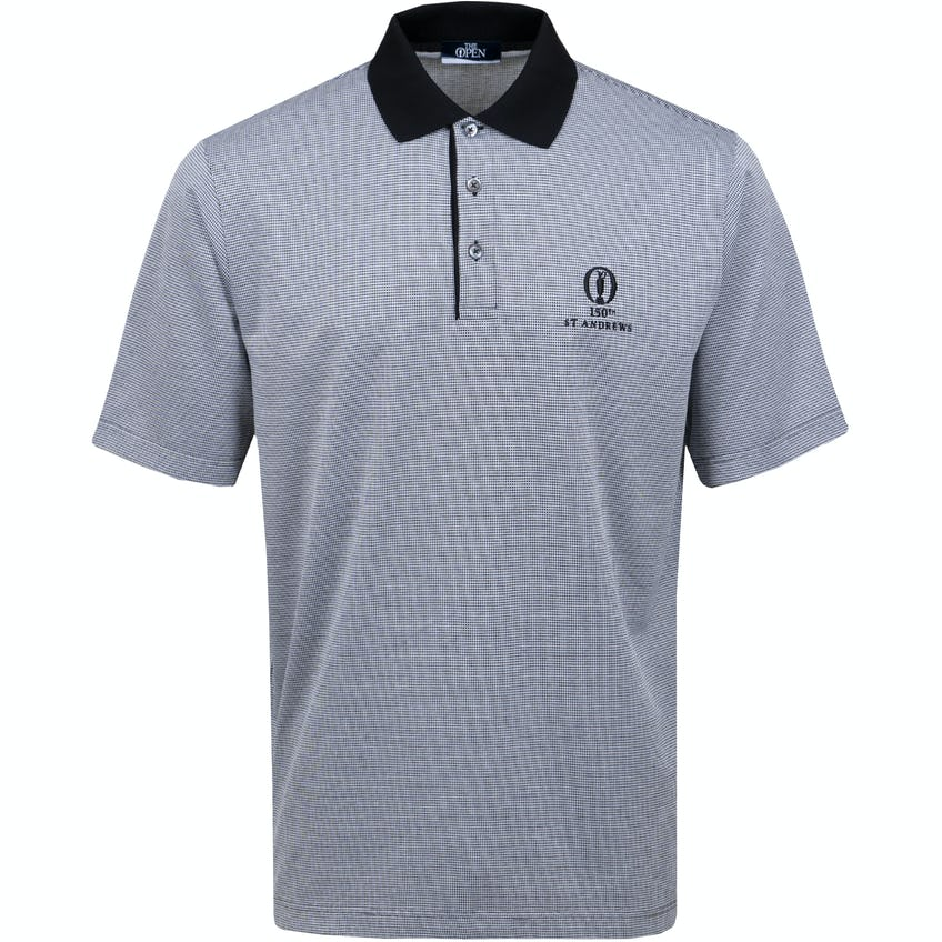 150th St Andrews Marbas Patterned Polo Shirt - Grey