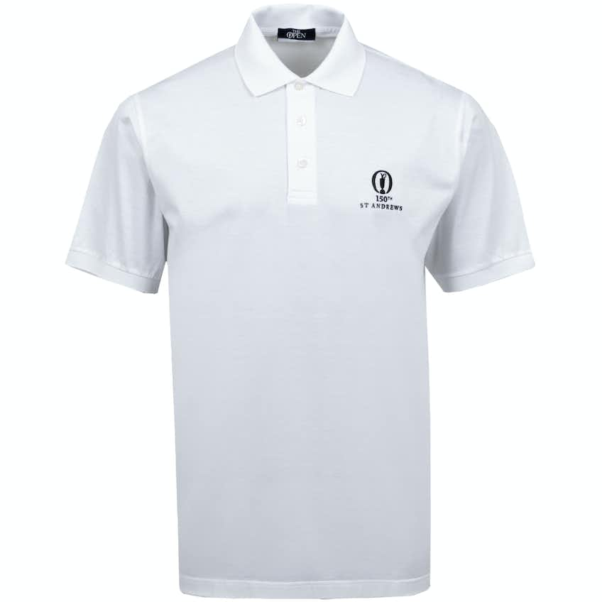 150th St Andrews Marbas Plain Polo Shirt - White