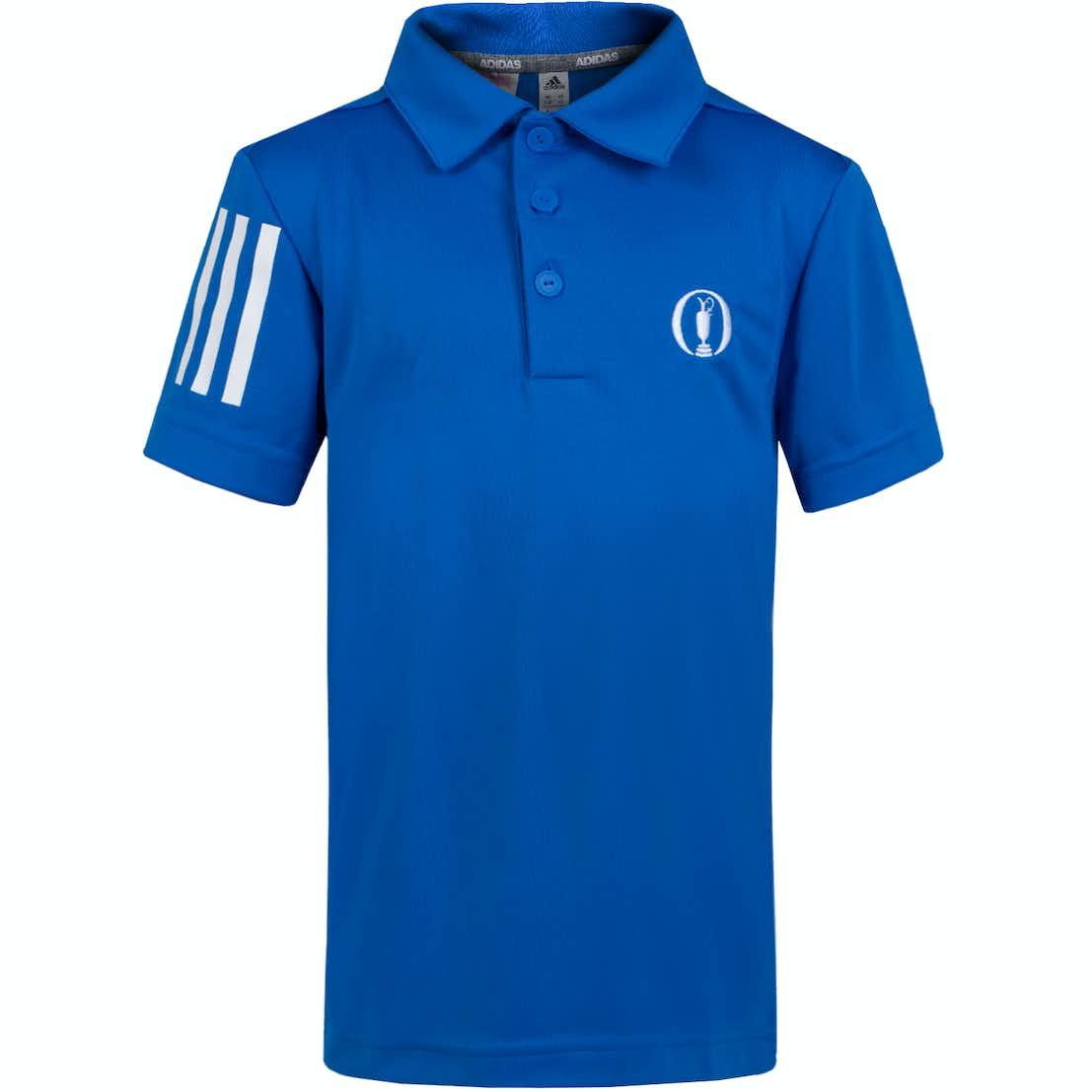 The Open adidas Children's Plain Polo Shirt - Blue