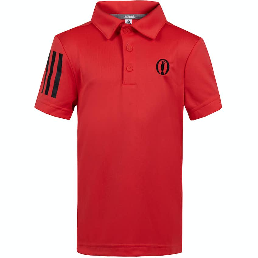 The Open adidas Children's Plain Polo Shirt - Red