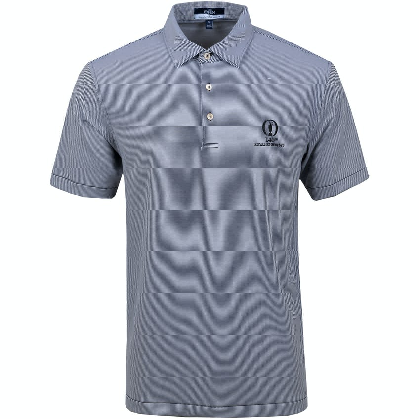 149th Royal St George's Striped Polo Shirt - Black and White 0