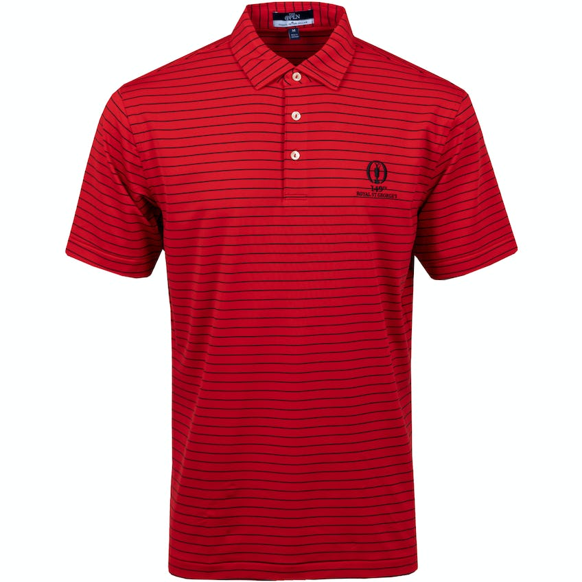 149th Royal St George's Striped Polo Shirt - Red 0