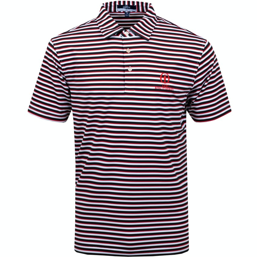 149th Royal St George's Striped Polo Shirt - Black, Red and White 0