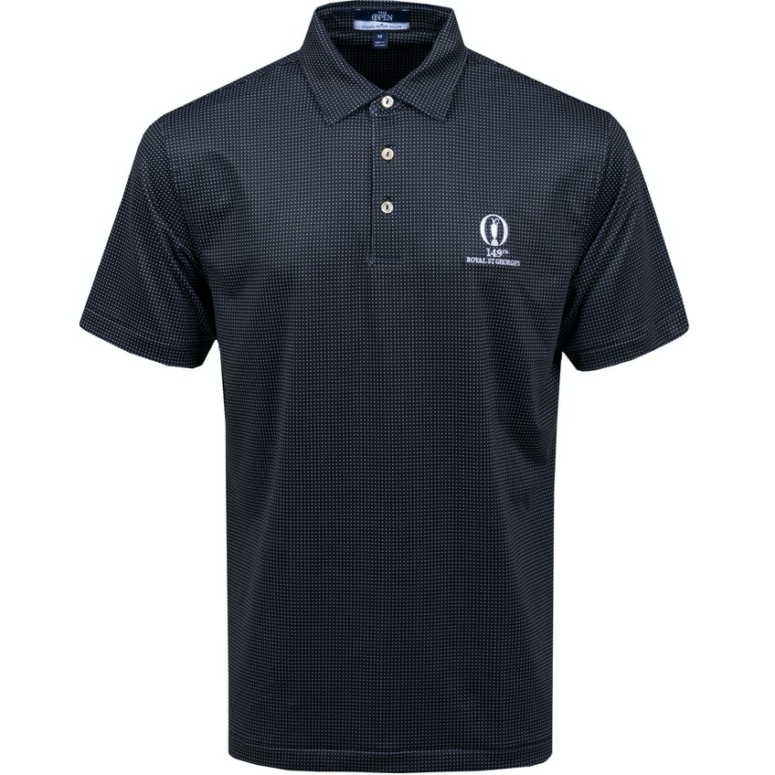 149th Royal St George's Patterned Polo Shirt - Black 0