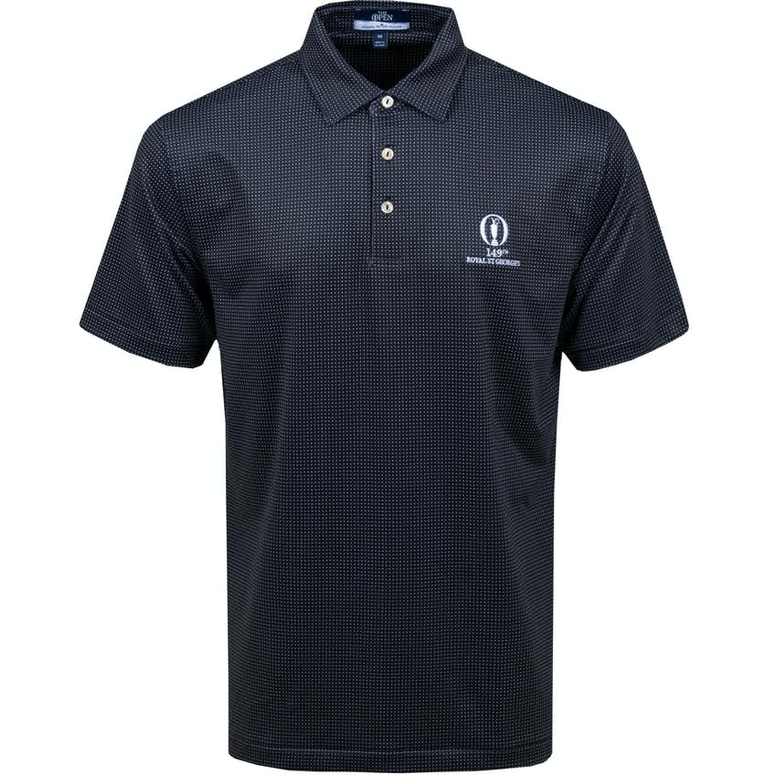 149th Royal St George's Patterned Polo Shirt - Black