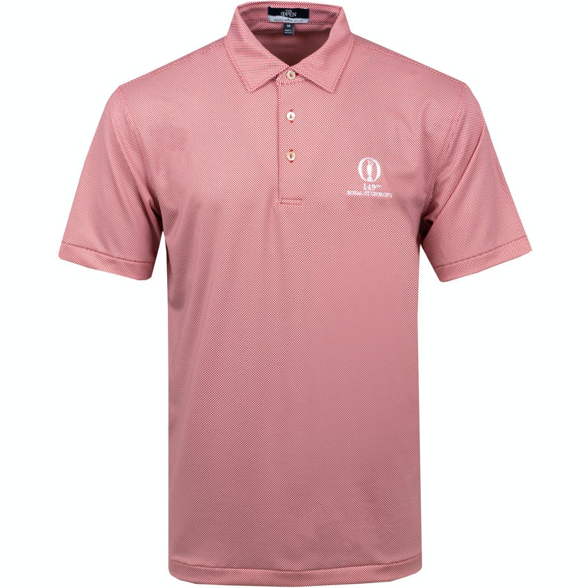 149th Royal St George's Patterned Polo Shirt - Red and White 0