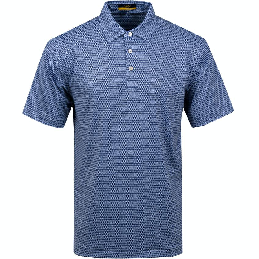The Open Patterned Polo Shirt - Blue