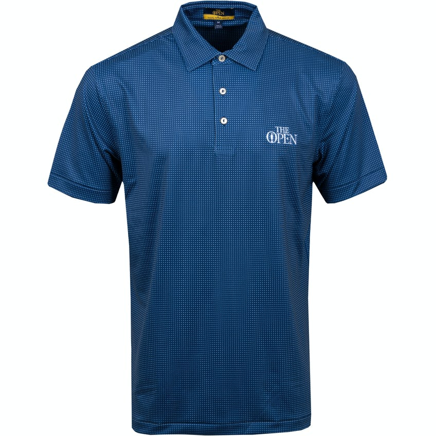 The Open Patterned Polo Shirt - Blue 0