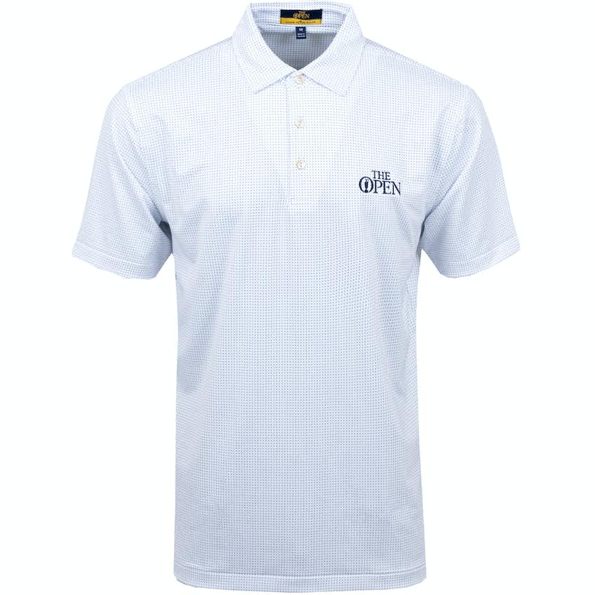 The Open Patterned Polo Shirt - White