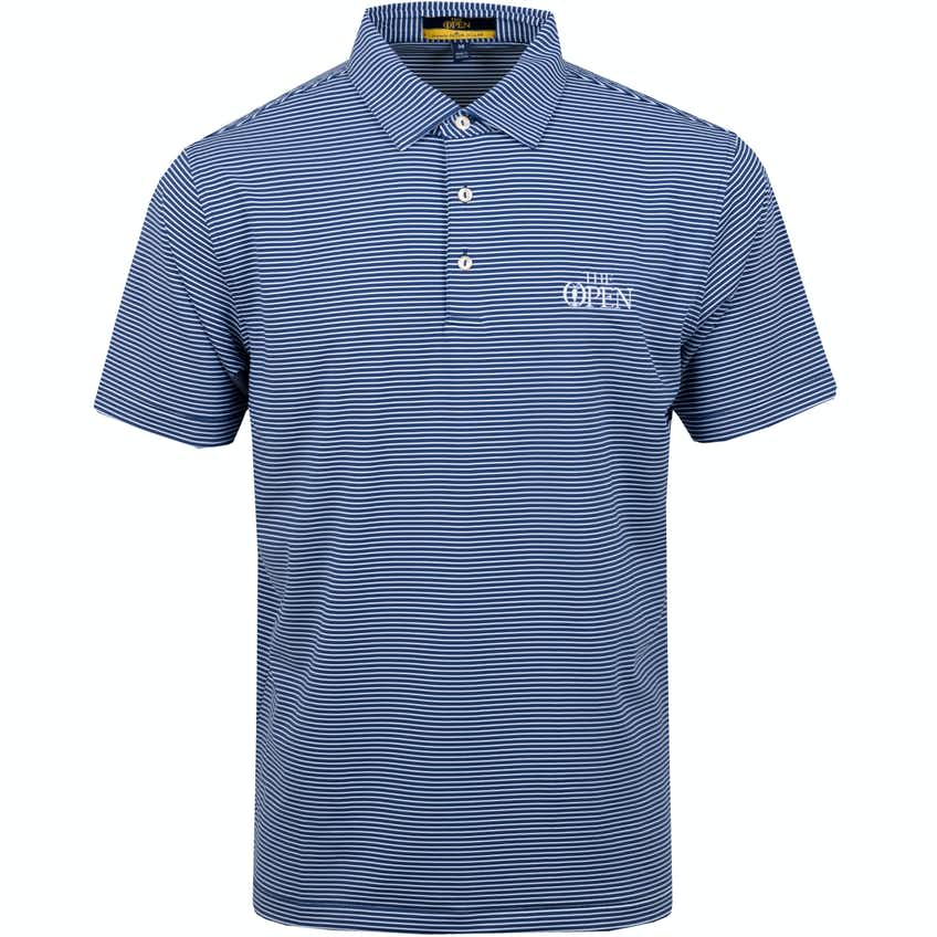The Open Striped Polo Shirt - Blue and White