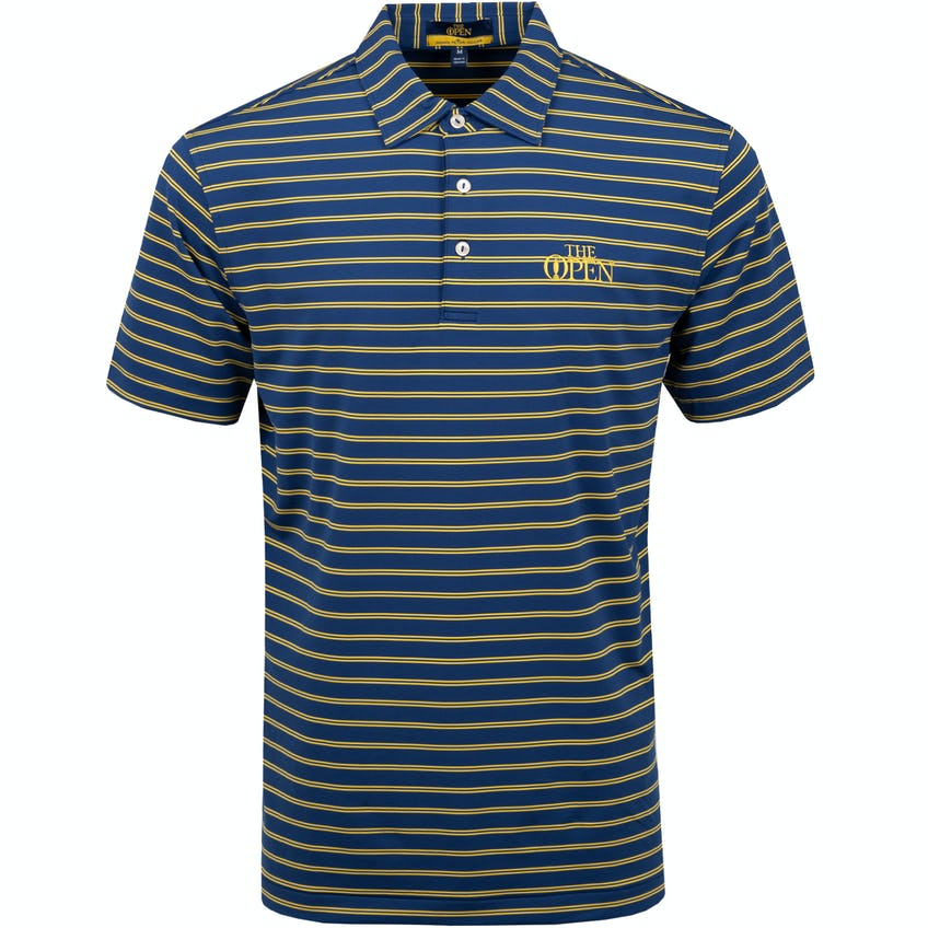 The Open Striped Polo Shirt - Blue and Yellow 0