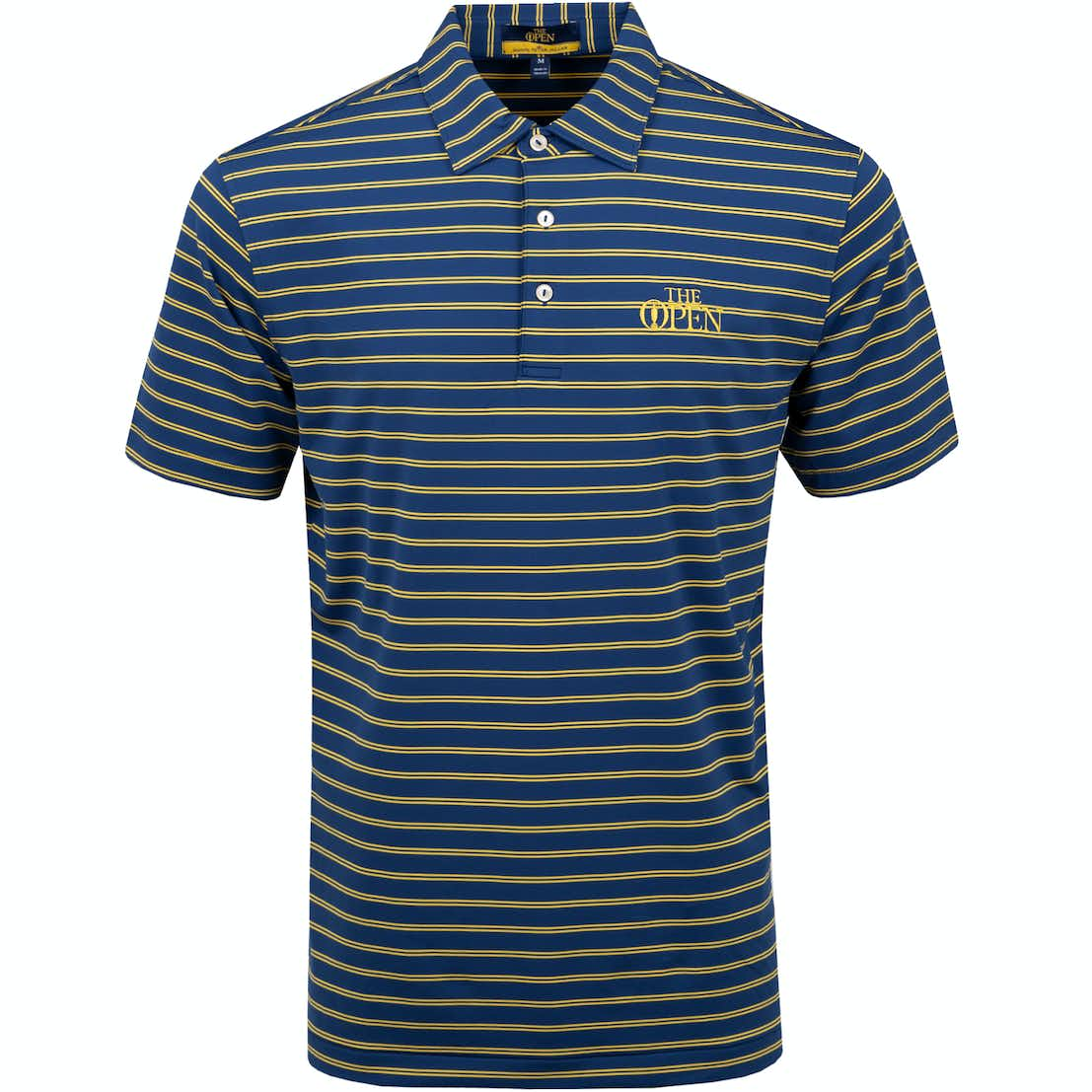 The Open Striped Polo Shirt - Blue and Yellow