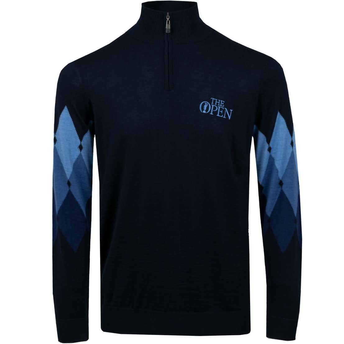 The Open 1/4-Zip Pullover - Blue