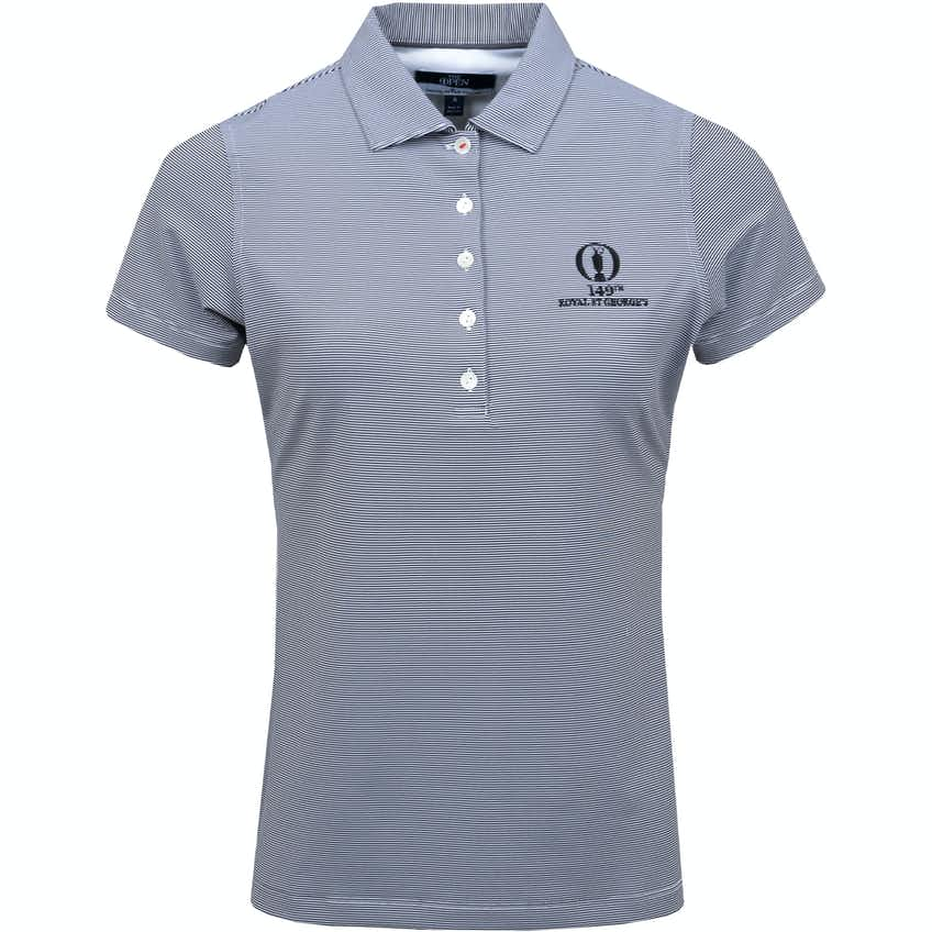 149th Royal St George's Striped Polo Shirt - Black and White