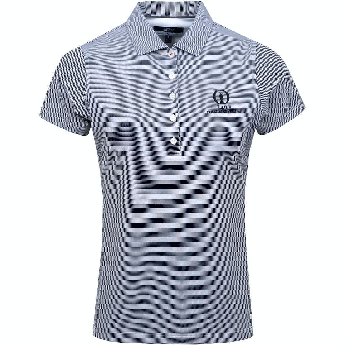 149th Royal St George's Striped Polo Shirt - Grey