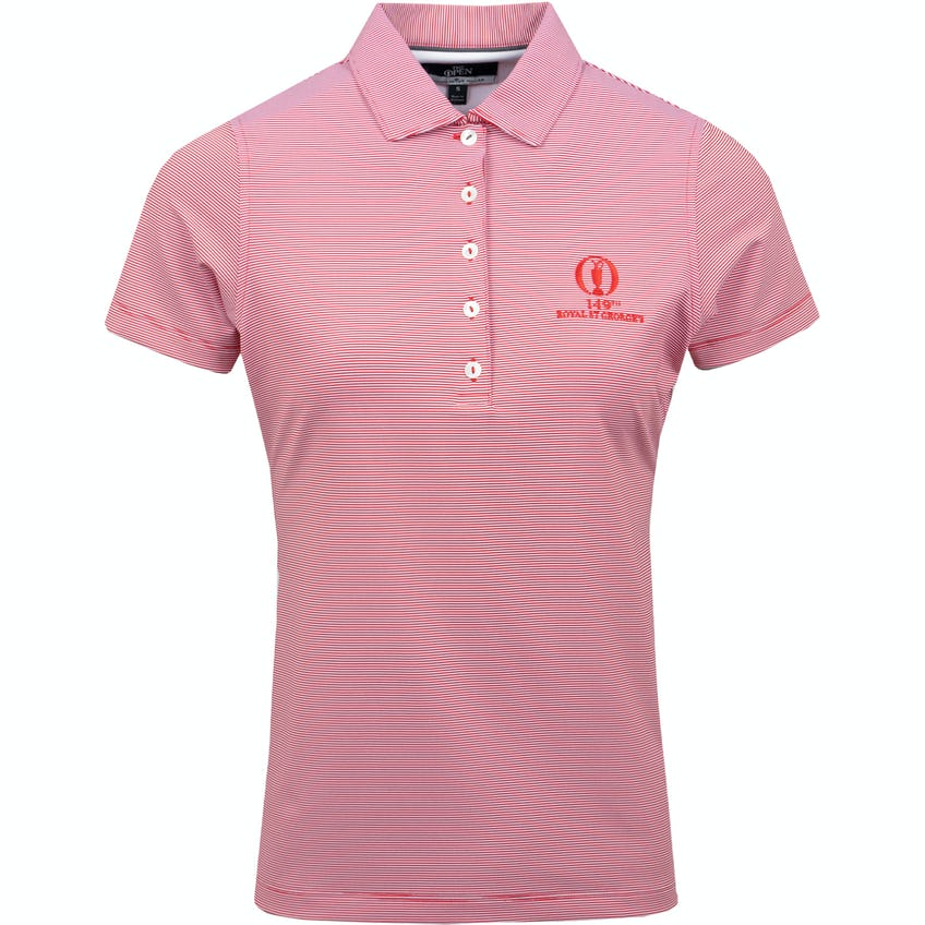 149th Royal St George's Striped Polo Shirt - Red