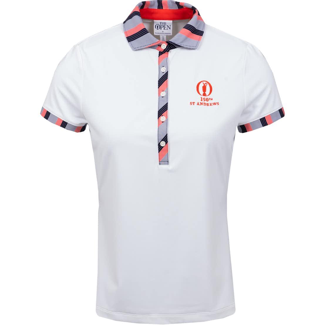 150th St Andrews Plain Polo Shirt - White