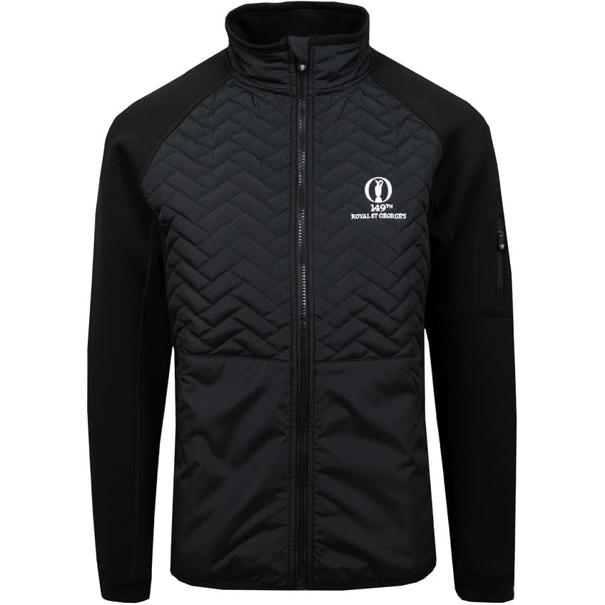 149th Royal St George's ProQuip Therma Gust Quilted Jacket - Black