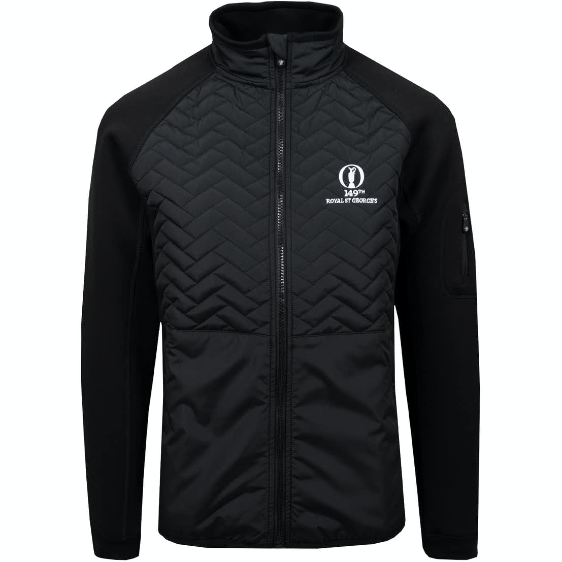 149th Royal St George's Therma Gust Quilted Jacket - Black