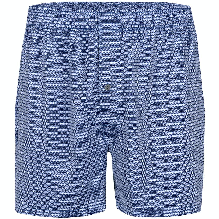 The Open Patterned Boxer Shorts - Blue