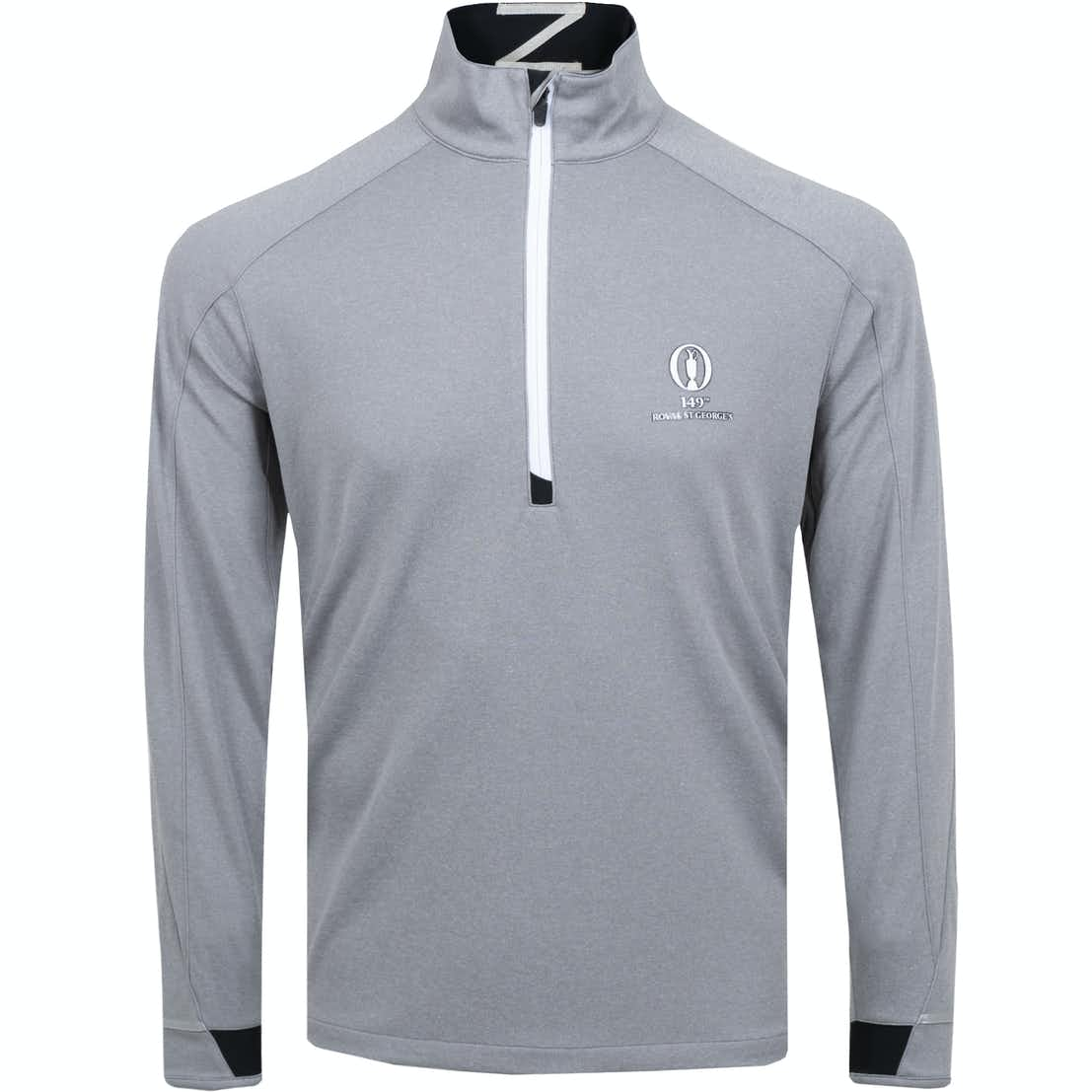 149th Royal St George's Zero Restriction 1/4-Zip Sweater - Grey