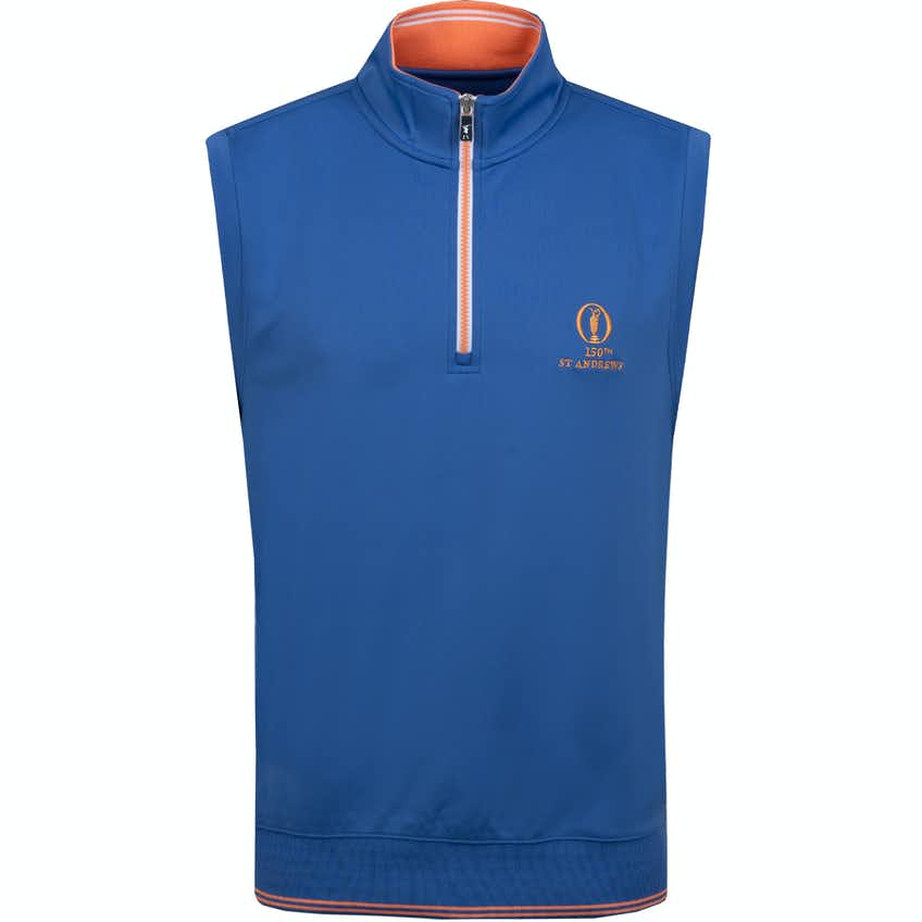 150th St Andrews 1/4 Zip Vest - Blue