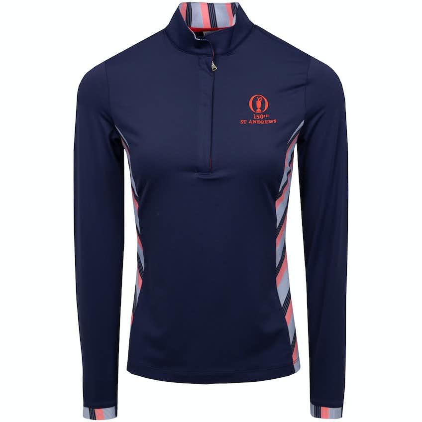 150th St Andrews Fairway & Greene Zip-Neck Sweater - Blue
