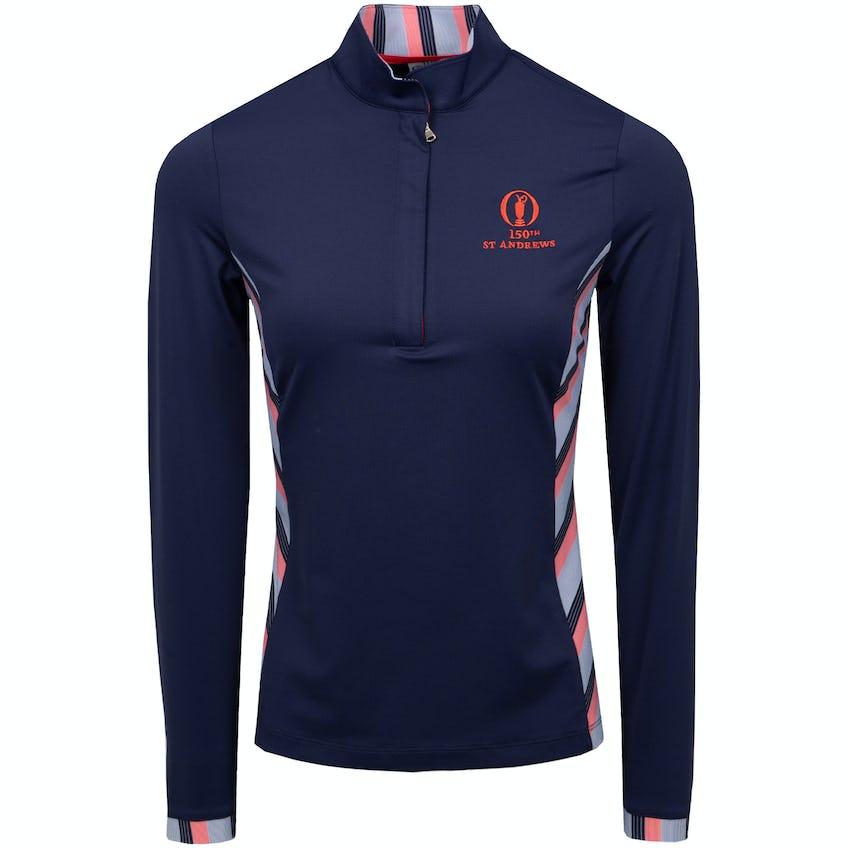 150th St Andrews Fairway & Greene Zip-Neck Sweater - Blue 0