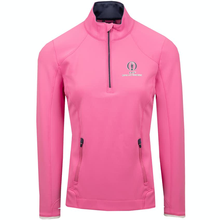149th Royal St George's Zero Restriction 1/4-Zip Sweater - Pink