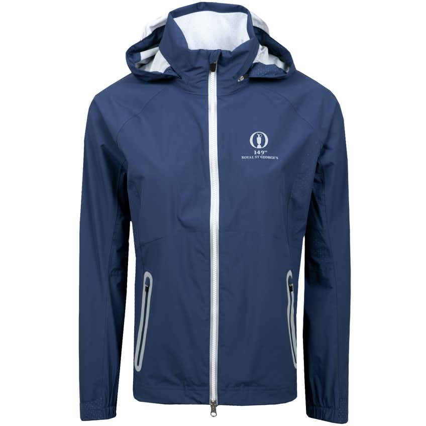 149th Royal St George's Zero Restriction Hooded Waterproof Jacket - Blue