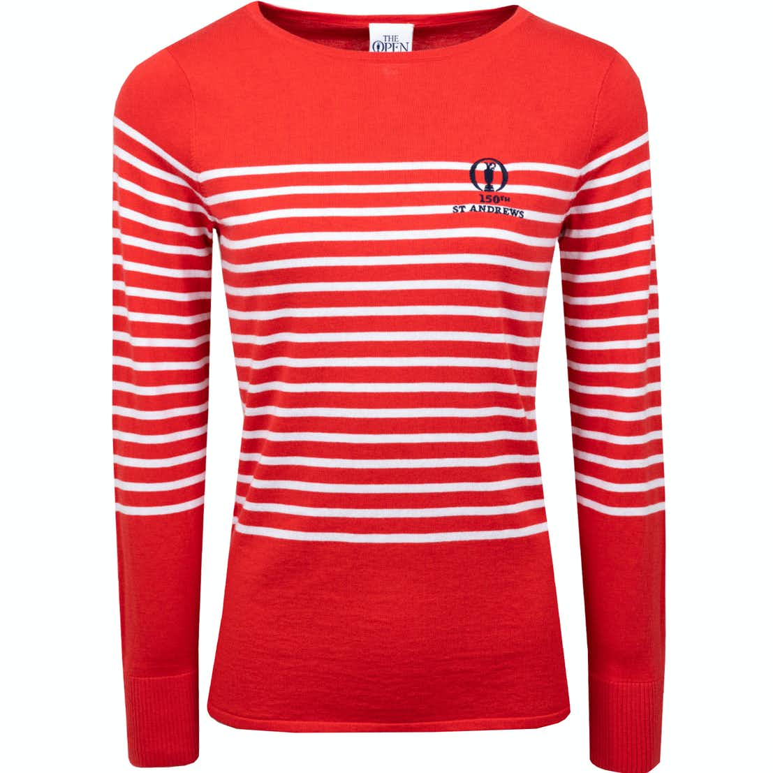 150th St Andrews Fairway & Greene Striped Sweater - Red