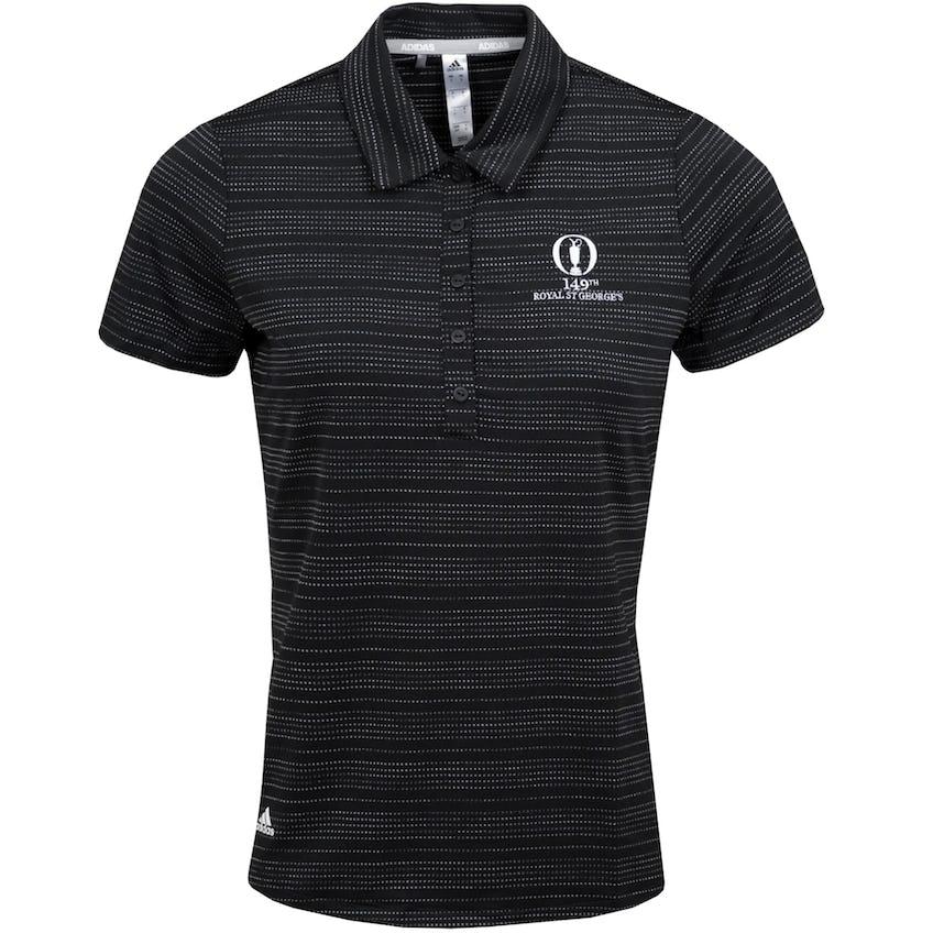 149th Royal St George's adidas Microdot Polo Shirt - Black