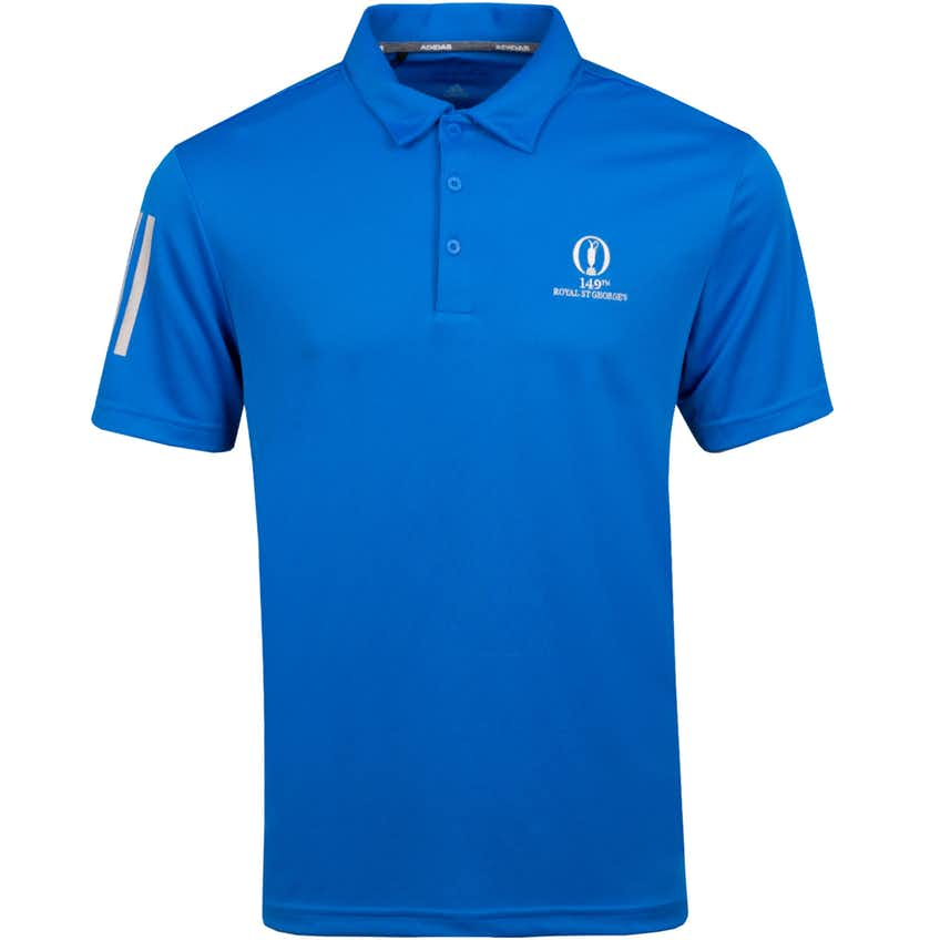 149th Royal St George's adidas 3-Stripes Basic Polo Shirt - Blue
