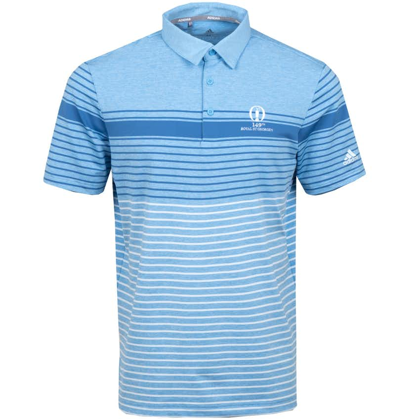 149th Royal St George's adidas Striped Polo Shirt - Blue