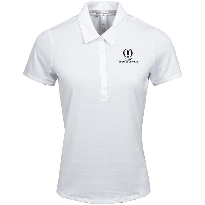 149th Royal St George's adidas Microdot Polo Shirt - White