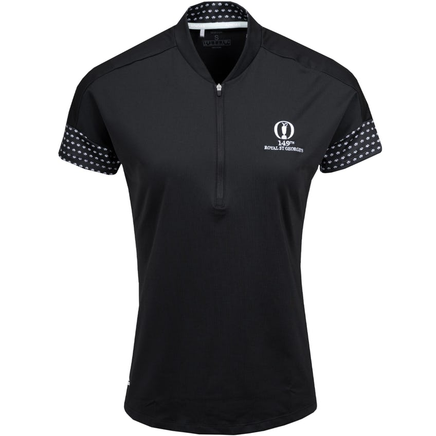 149th Royal St George's adidas Plain Polo Shirt - Black
