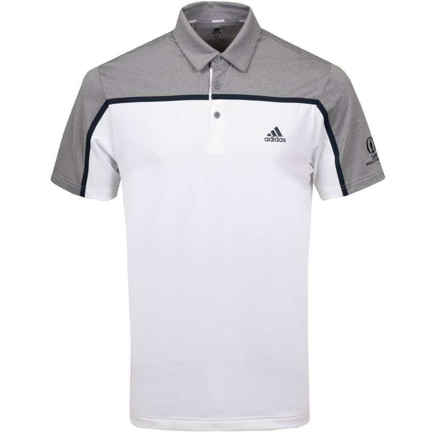 149th Royal St George's adidas ULT365 Polo Shirt - White and Grey