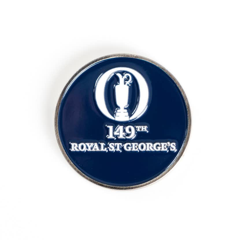 149th Royal St George's Two-Sided Collector's Coin - Navy and White