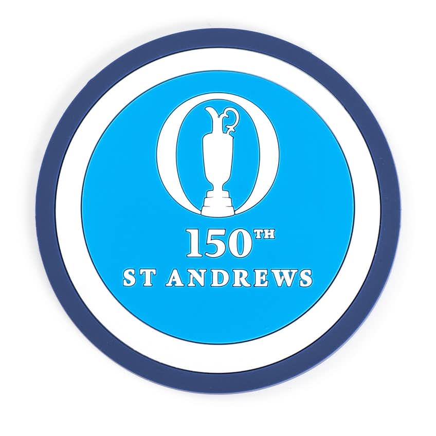 150th St Andrews Coaster Set - Blue, Navy and White