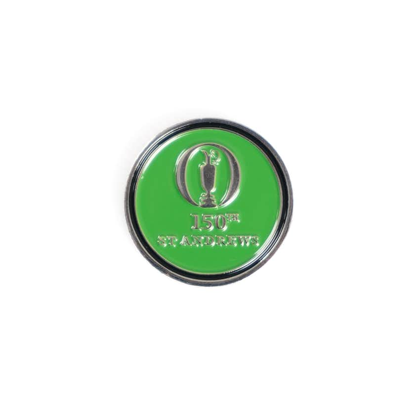 150th St Andrews Two-Sided Ball Marker - Green and Black